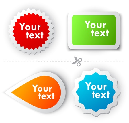 Colorful sticker for text Stock Vector - 9403535