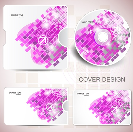 Vector CD cover design. Editable templates. Stock Vector - 9416734