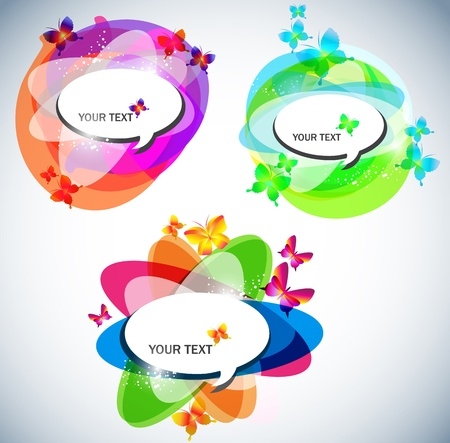 Abstract vector bubbles for speech Vector