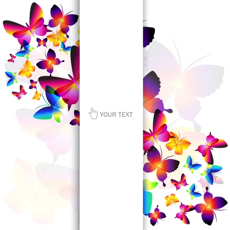 Colorful butterfly background Stock Vector - 9423145