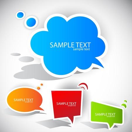 message bubble: Colorful paper bubble for speech Illustration