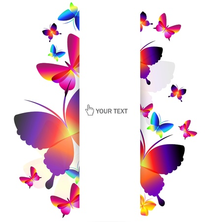 Colorful butterfly background Stock Vector - 9430087