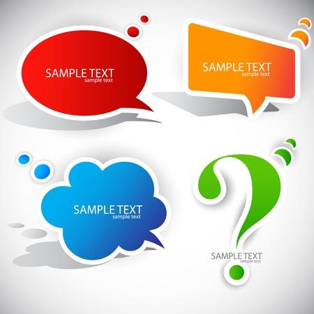 punto interrogativo: Bolla di carta colorata per il discorso Vettoriali