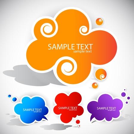 message cloud: Paper cloud bubble for speech
