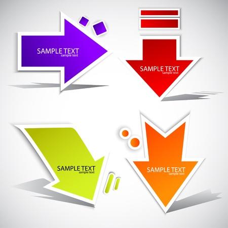 green arrow: Colorful paper arrow  for speech