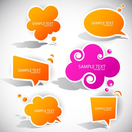 Colorful paper bubble for speech Stock Vector - 9498058