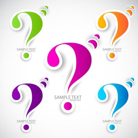 Fragezeichen: Colorful Papier Fragezeichen f�r Rede Illustration