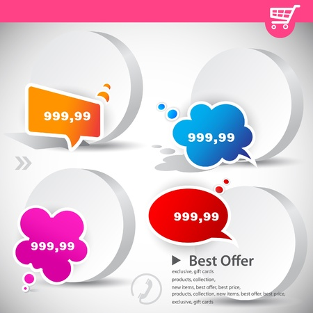 Web banners with product prices Stock Vector - 9498069