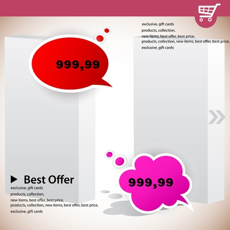 Web banners with product prices  Vector