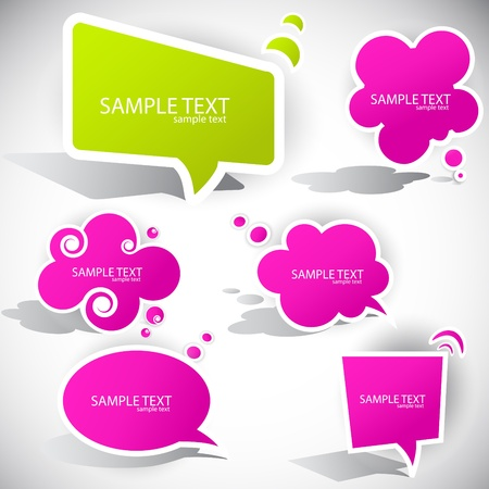 talking bubble: Colorful paper bubble for speech Illustration