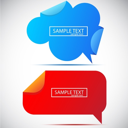 Paper bubble for speech Vector