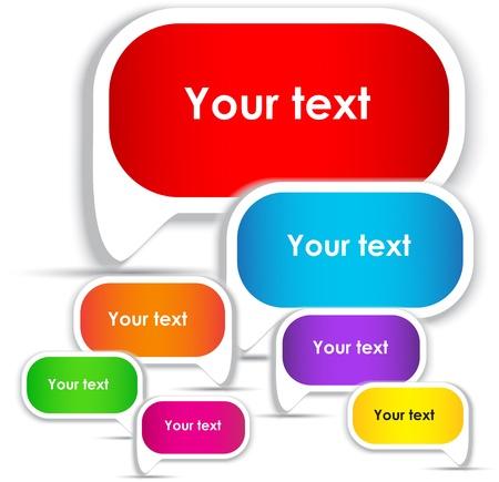 Colorful bubble for speech. Website elements  Vector