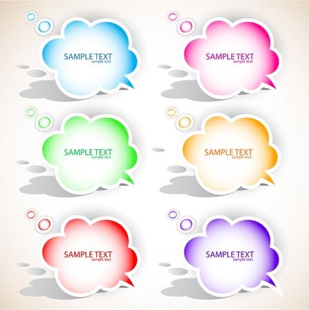 Paper cloud bubble for speech Stock Vector - 9641066