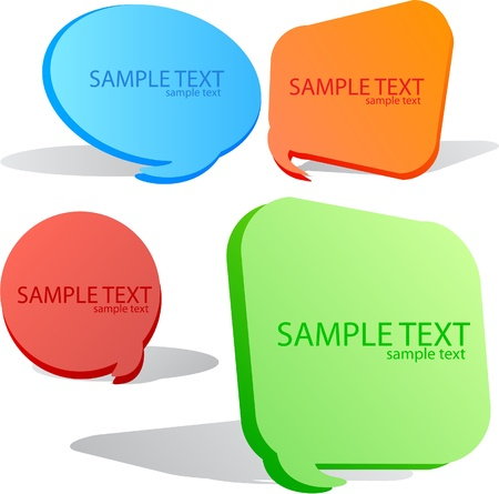 Colorful speech bubble. Set Stock Vector - 9641074