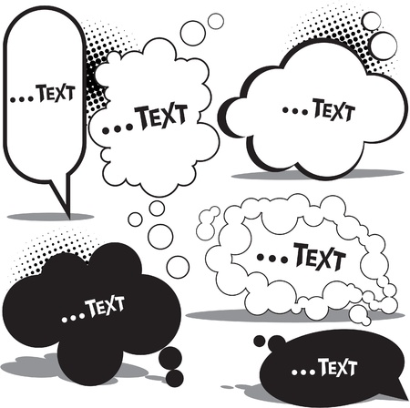 thinking cloud: Cloud bubble for speech Illustration