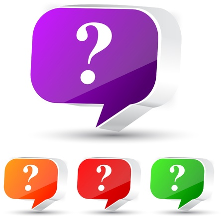 question icon: Speech bubble. Set