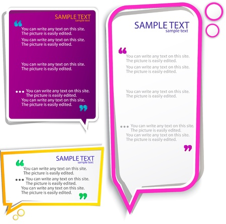 an article: Colorful speech frames Illustration