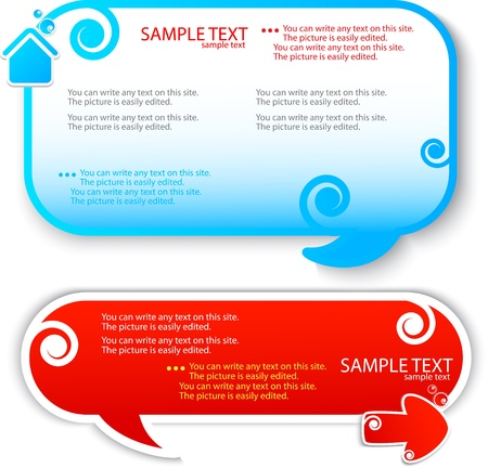 Colorful speech frame for text Stock Vector - 9931567