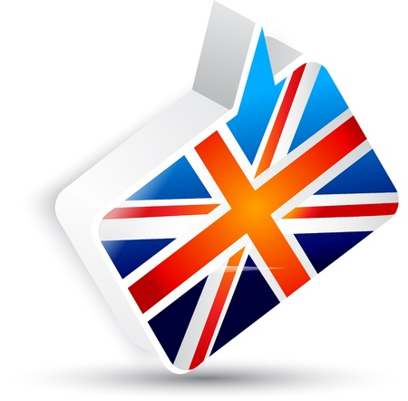 brit: Flag of the United Kingdom. Speech bubble