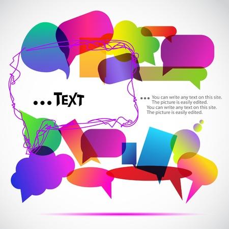 conversations: Bolle colorate per discorso