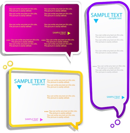 Colorful speech frames Stock Vector - 9944711