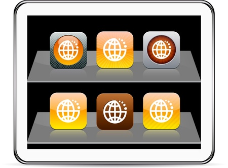 Planet Set of apps icons. Vector illustration doesn't contain transparency and other effects. EPS8 Only.  Stock Vector - 9944663