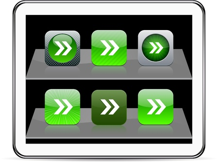 Forward arrow Set of apps icons. Vector illustration doesnt contain transparency and other effects. EPS8 Only.   Vector