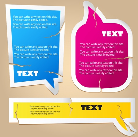 yellow sticky note: Colorful paper bubble for speech Illustration