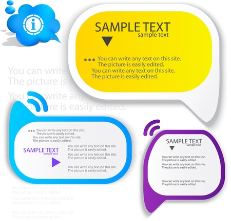 article icon: Colorful speech frame for text Illustration