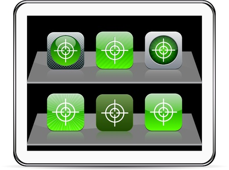 SightSet of apps icons. Vector illustration doesnt contain transparency and other effects. EPS8 Only.   Vector