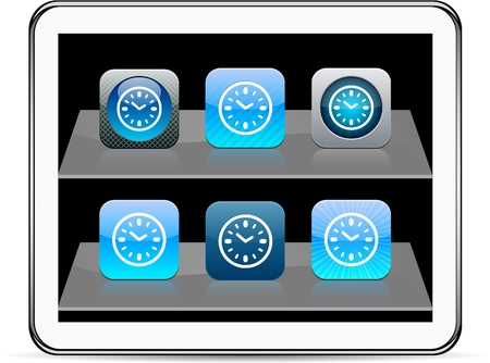 Time Set of apps icons. Vector illustration doesnt contain transparency and other effects. EPS8 Only.   Vector
