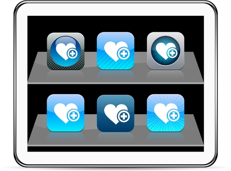 Add to vavorite Set of apps icons. Vector illustration doesnt contain transparency and other effects. EPS8 Only.  Vector