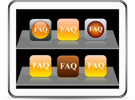 FAQ Set of apps icons. Vector illustration doesn't contain transparency and other effects. EPS8 Only.  Stock Vector - 9945913