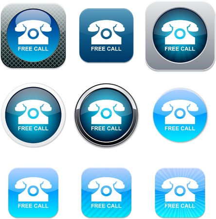 Set of call  apps icons. Vector illustration. Stock Vector - 9946194