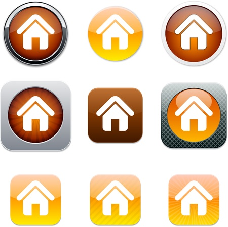 my home: Home Set of apps icons. Vector illustration.