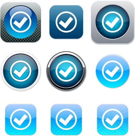 Mark Set of apps icons. Vector illustration.