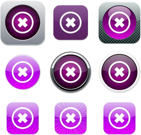 Set of apps icons. Vector illustration. Vector