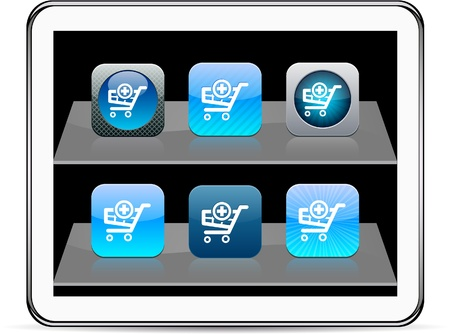 Add to cart Set of apps icons. Vector illustration doesn Stock Vector - 9946188
