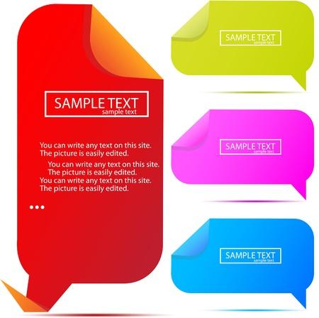 Paper bubble for speech Vector