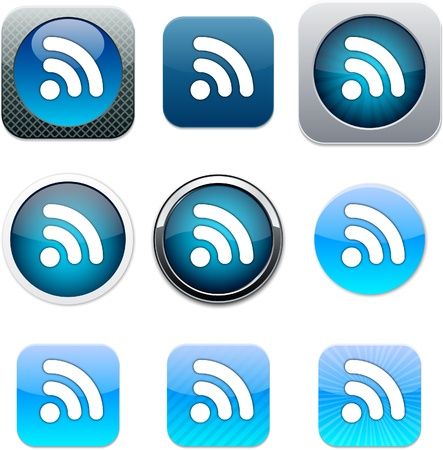 Rss Set of apps icons. Vector illustration. Vector