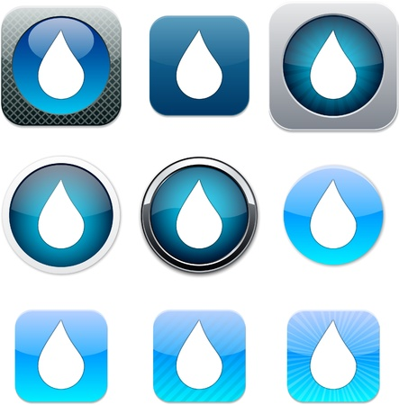 Drop Set of apps icons Vector