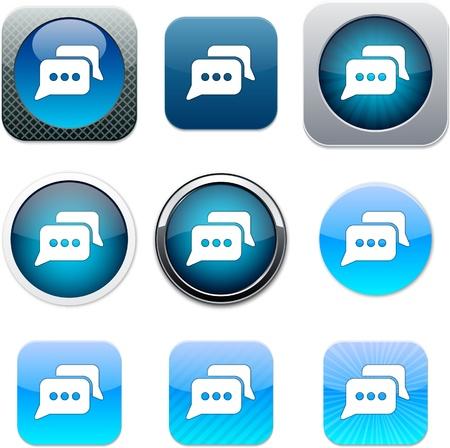 Conjunto de chat de iconos de aplicaciones.