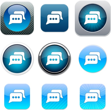 Chat Set of apps icons. Illustration