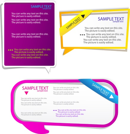 Colorful Speech frame for text Stock Vector - 9936364