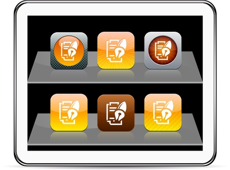 Form and pen Set of apps icons. Vector illustration doesn't contain transparency and other effects. EPS8 Only. Stock Vector - 10039013