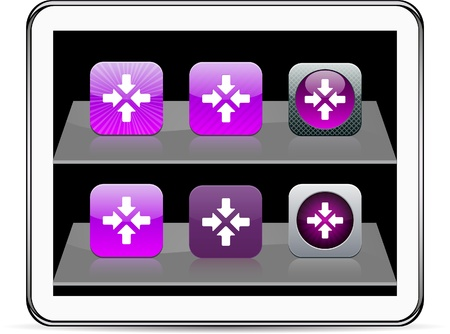 Click here Set of apps icons. Vector illustration doesn't contain transparency and other effects. EPS8 Only. Stock Vector - 10039007