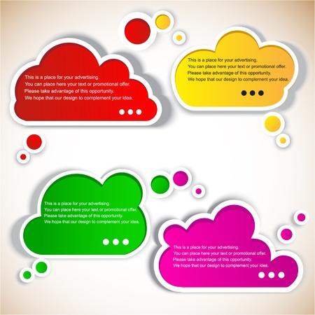 sticky: Paper speech bubble Illustration