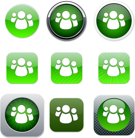 Forum Set of apps icons. Vector illustration. Vector