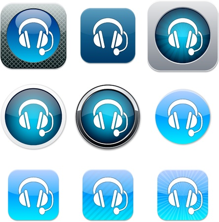 Call center Set of apps icons. Vector illustration. Stock Vector - 10039115
