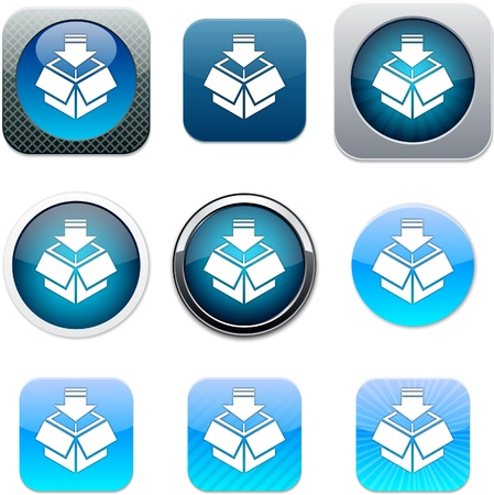 Package Set of apps icons. Vector illustration. Vector